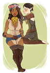 Dragon Age 2 Merrill and Isabela by cannorachan