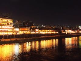 Kamogawa Kyoto by SheltieWolf