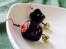 Ikura Sushi Earrings by alexredford