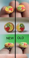 Minifood - Fruit Tart Jewelry - Old vs. New by PetitPlat