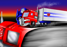 G1 Optimus Prime - Modes Devided colourized by magigrapix