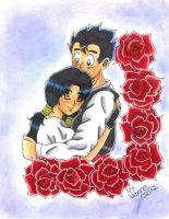 Gohan and Videl by Ma0ra