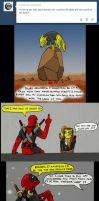 Chainsaw Vigilante and Deadpool comic #15 by arcanineryu