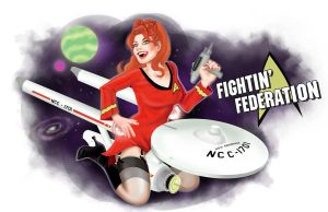 Fightin' Federation Nose art by DarthTerry