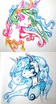 Tribal Luna and Baroque Celestia by AeroLP