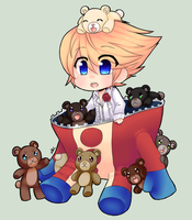 .:COLLAB : P4 Teddie:. by InkHeartPaw