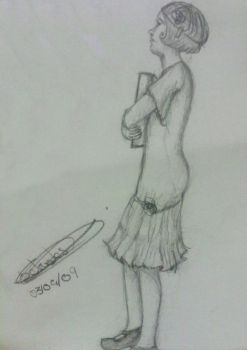 Ferry Boat sketches: girl I by charuli