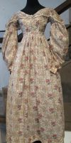 Flowery Victorian Dress II by Avestra-Stock