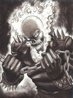 GHOST RIDER INK SKETCH 1 by AHochrein2010