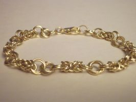 Fine Byzantine Flower Bracelet by NevinSlate