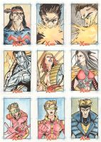 Xmen Archives Sketchcards 11 by Csyeung