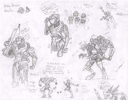 Halo Reach doodles by metalfoxxx