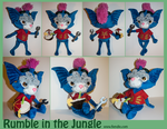 Rumble in the Jungle Plushie by Fiendle