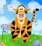 Tigger and A Butterfly - Digital ver by deadrockchariot
