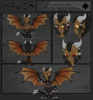 Skylanders : Havok, the Hybrid Son by WeirdHyena