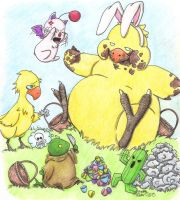 Final Fantasy Easter by Kahlan4