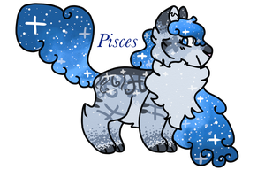 Pisces | Galacticat Auction by Hollyleafthewarriorc