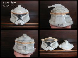 Phase One Clone Helmet Jar by gloryblaz