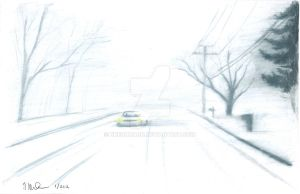 driving in the snow by nherdmann