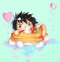 L and his sweets by Suixere