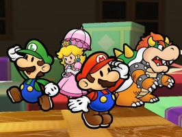 Brawl - Paper Mario Trophies by Death-Driver-5000