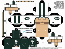Brett Favre Jets Cubee by etchings13