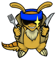 Hungry Armadillo by DarsyWolf