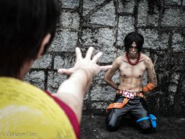 Luffy n Ace from One Piece at Marine Fort by Zakane