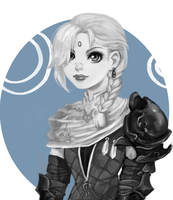 Sketch commission - Abelia by AntheiaVaulor