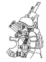 National Guard-lineart by Illevas001