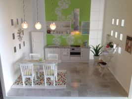 Mini kitchen/dining room is almost complete by Almadejonge