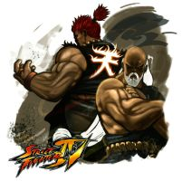 Akuma Gouken Tribute by streetfighterart