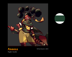 Anesssa cataball game character by K-hermann