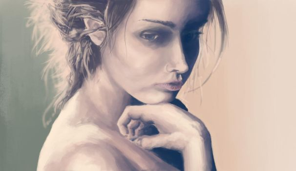 Portrait of a girl by BeexD