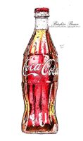 Coca Cola Drawing by bendesign