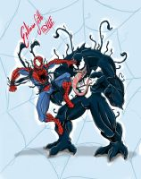 Fant art Spiderman Vs Venom by EndimionSeth
