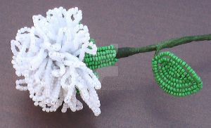 Beaded carnation by Craftcove