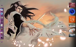 Beautful Byakuya Desktop by TaintedOneNinja