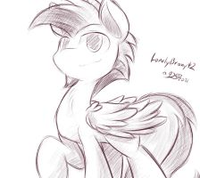 LonelyBrony42 Sketch Commish by DShou