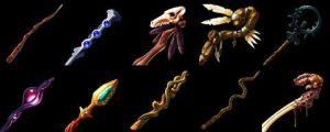 Wands Icon Set by Caetis