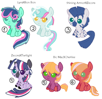 MLP Shipped Adoptables part 3 CLOSED by AnaXHedgecat