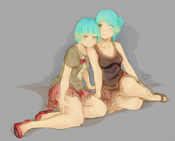 Twins Doodle by Bobo-Kitty