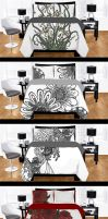 Office Ink Designs Duvet and Bedding Collection by AmedaN