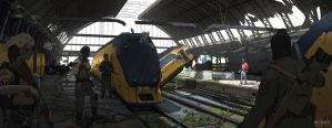 Encounter in Amsterdam Central Station by WouterGort