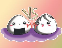onigiri vs pan al vapor by luzhikaru