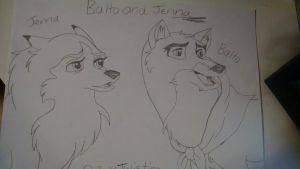 Balto and Jenna sketch by Stormchaser-Lioness