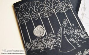Wedding Card: Luthien and Beren Face A by MentaDesigns