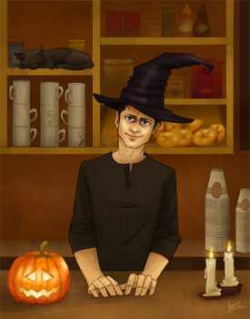 Happy Halloween (witchy Cas) by Beginte