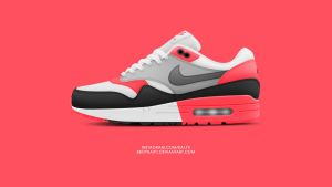 Nike Air Max 1 'Infrared' by BBoyKai91