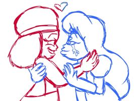 Quickie Ruby and Sapphire by ScoBionicle99